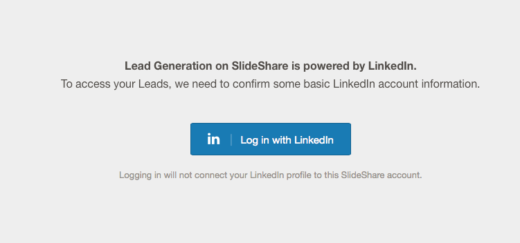 Collect lead Slideshare