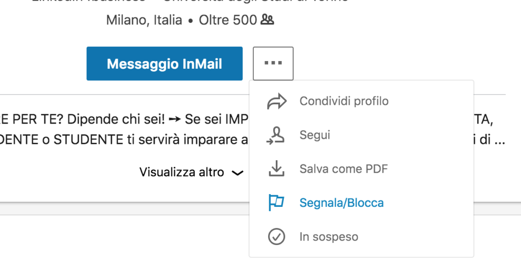 Come bloccare una persona su LinkedIn