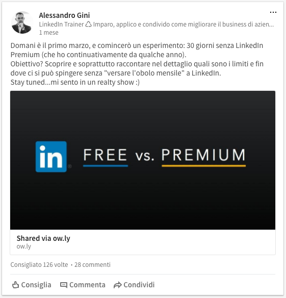 LinkedIn Premium vs Free: la prova sui limiti dell'account gratuito
